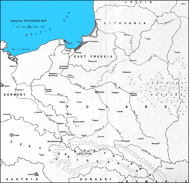 HyperWar The German Campaign In Poland Part I - Poland us map