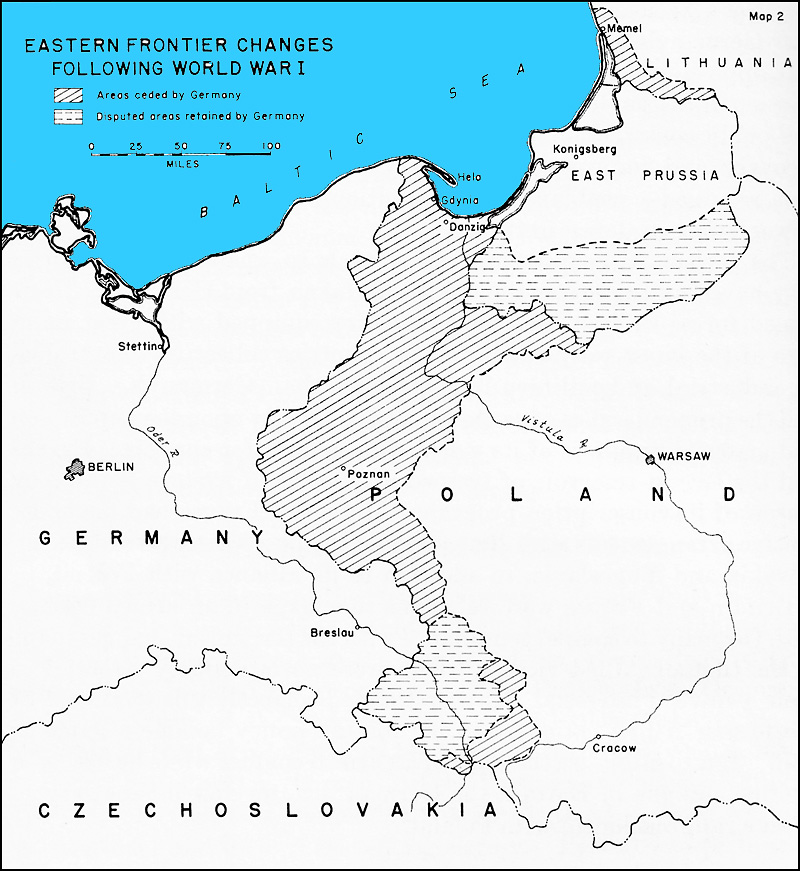 HyperWar The German Campaign In Poland Part I - Germany map after the versailles treaty