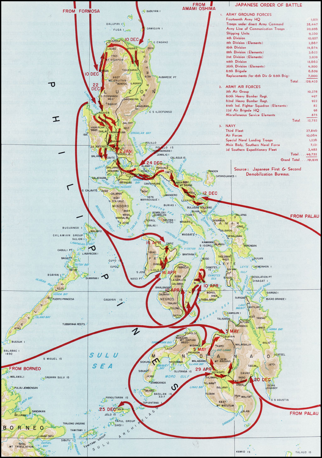 Hyperwar campaigns of macarthuri chapter 1 plate no 2 the japanese invasion of the philippines and the forces employed gumiabroncs Choice Image