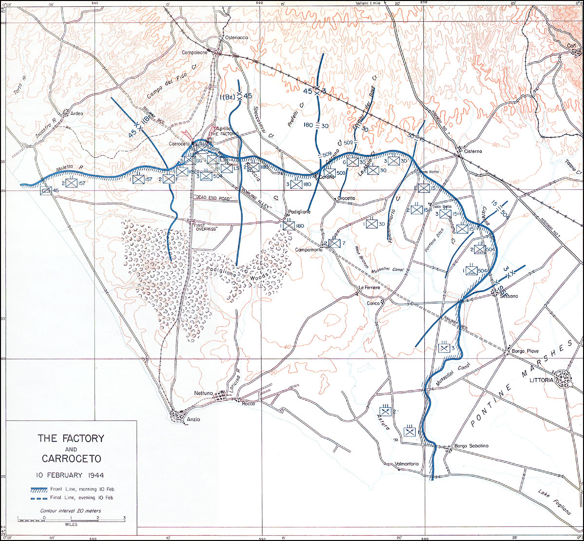 HyperWar American Forces in Action Anzio Beachhead 22 January25
