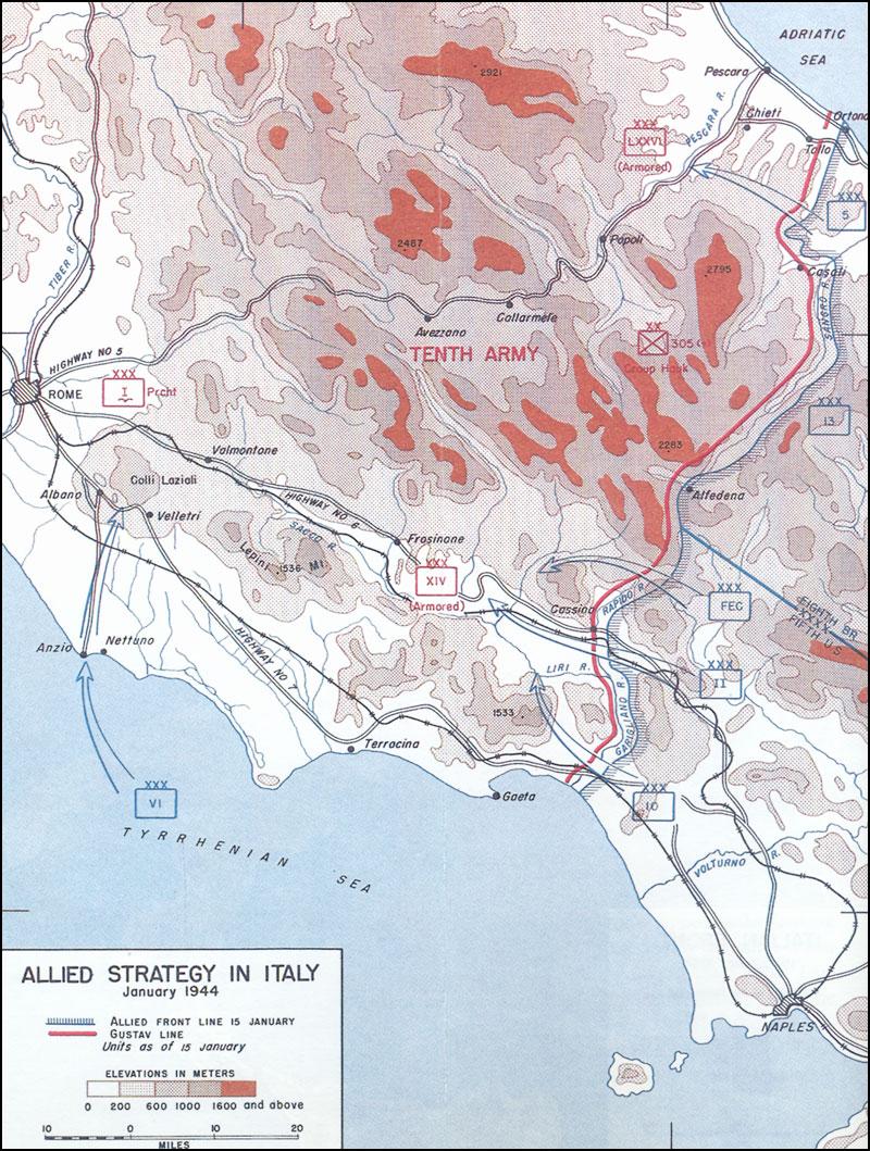 Hyperwar American Forces In Action Anzio Beachhead The Anzio