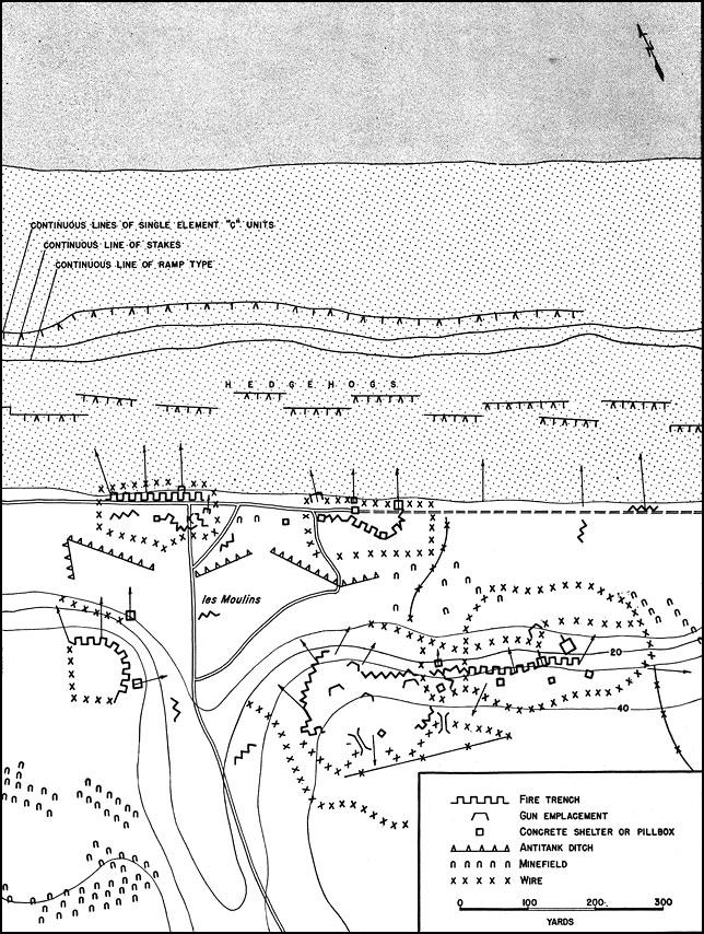 Ramelle France Map.Hyperwar American Forces In Action Omaha Beachhead 6 June 13 June