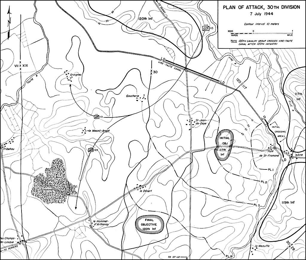 hyperwar st lo 7 july 19 july 1944 1st Virginia Cavalry Regiment see map 1
