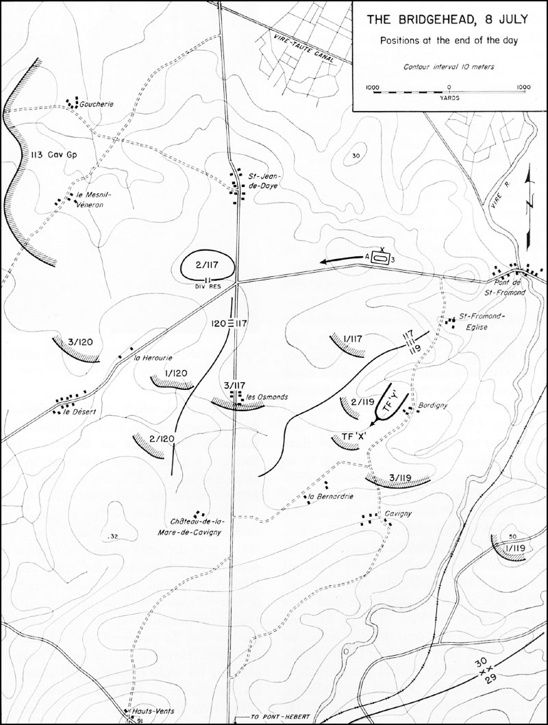 hyperwar st lo 7 july 19 july 1944 Cavalry Guidon moving to the right of the 30th division the cavalry group was to cover that flank of the bridgehead and operate offensively toward the west