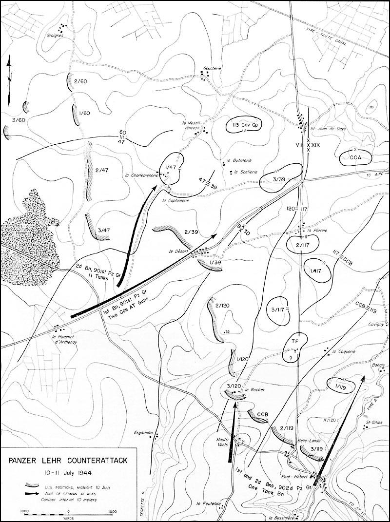 hyperwar st lo 7 july 19 july 1944 1st Volunteer Cavalry Regiment 7