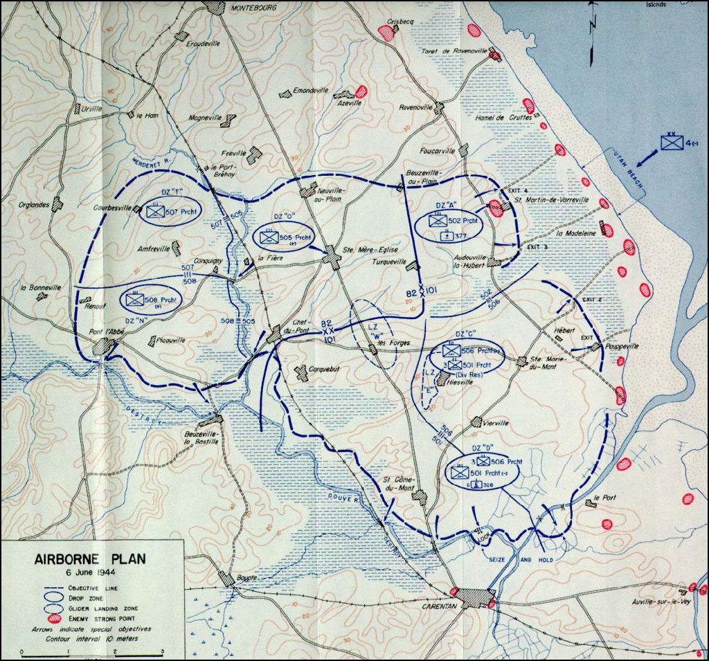 HyperWar UTAH Beach To Cherbourg June June Chapter - Utah map usa