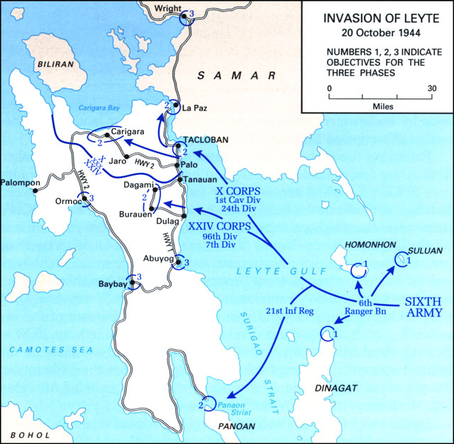 HyperWar: The U S  Army Campaigns of World War II: Leyte