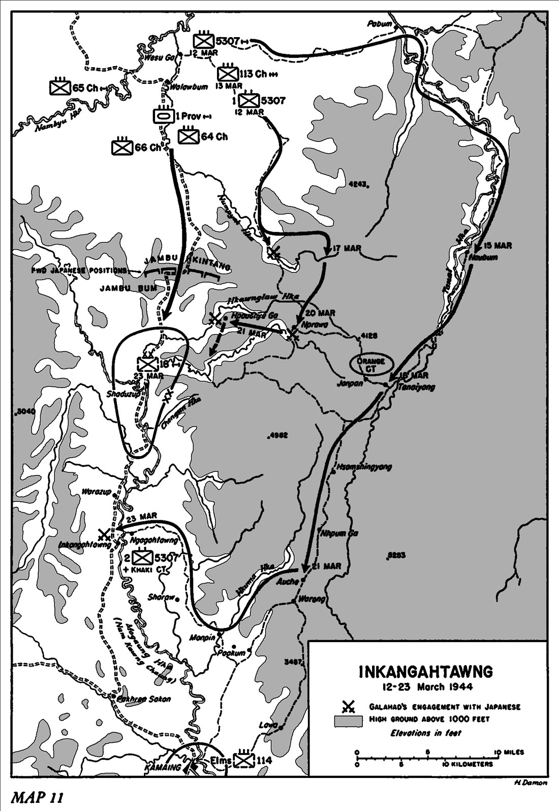 HyperWar US Army In WWII Stillwells Command Problems - Us northern command map