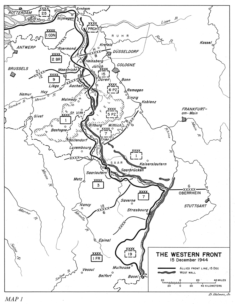 hyperwar the ardennes battle of the bulge 13th Infantry the western front 15 december 1944