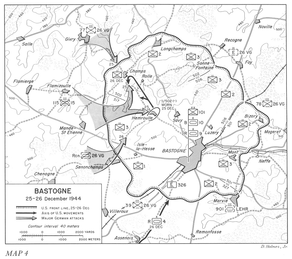 hyperwar the ardennes battle of the bulge 39th Infantry Regiment bastogne 25 26 december 1944