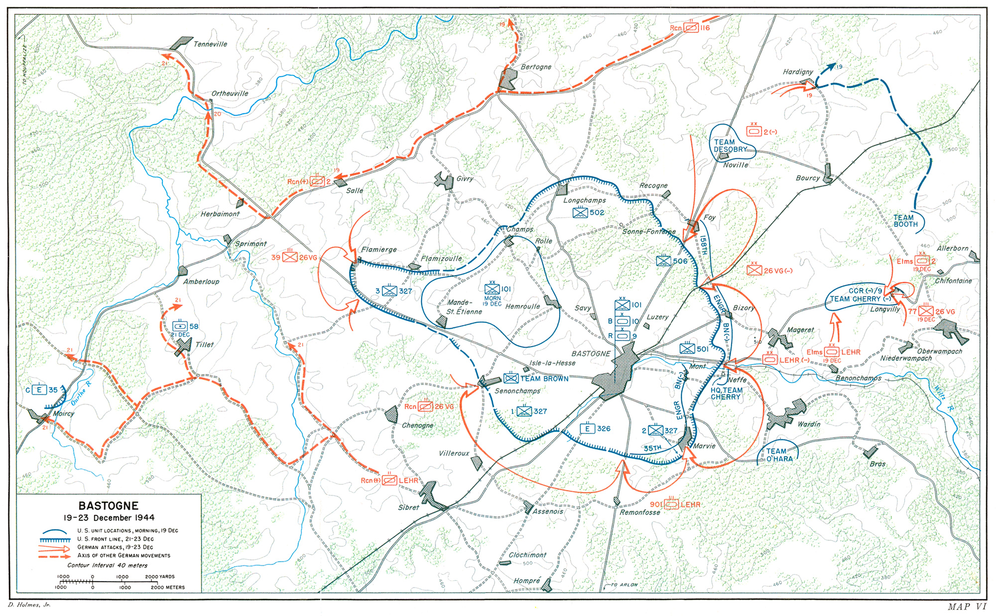 the initial deployment east of bastogne