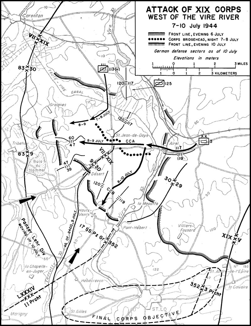 hyperwar us army in wwii the breakout and pursuit chapter 5 6 9 Cavalry Regiment map 5