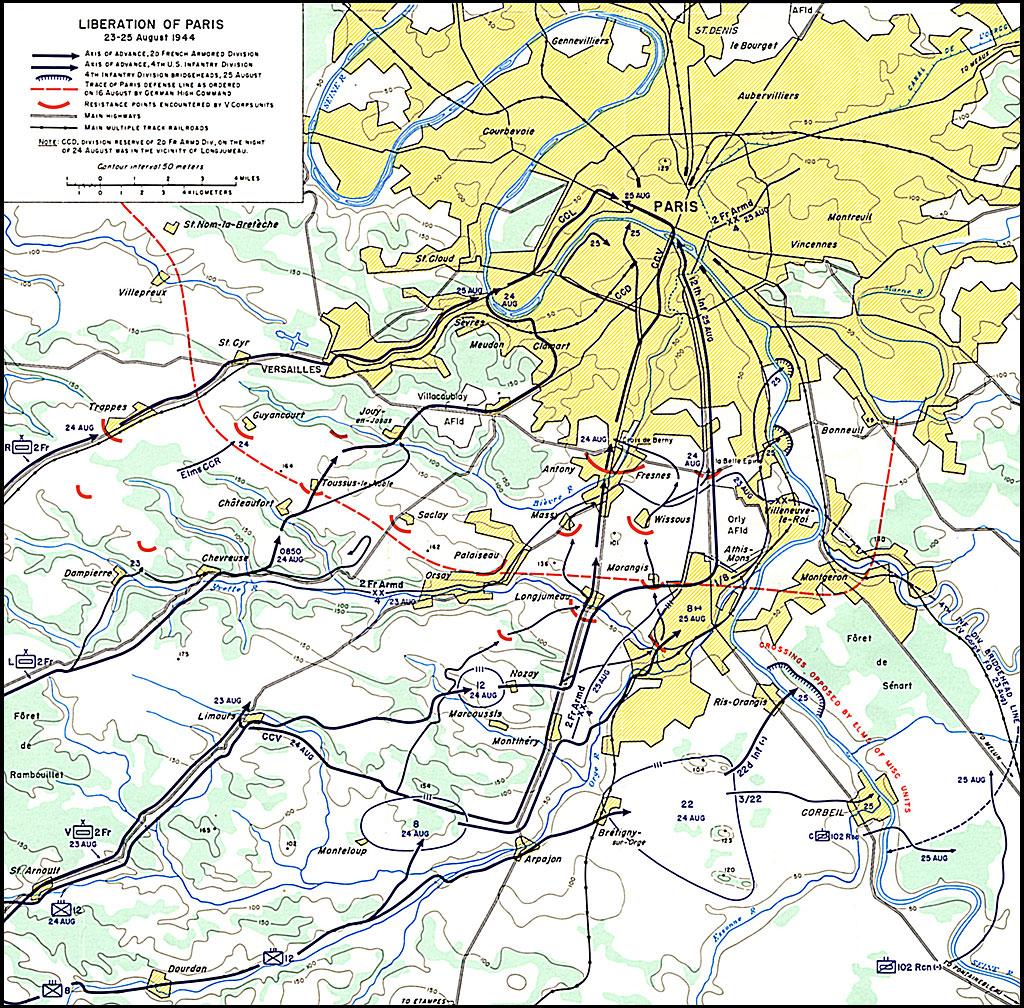 liberation of paris 23 25 august 1944