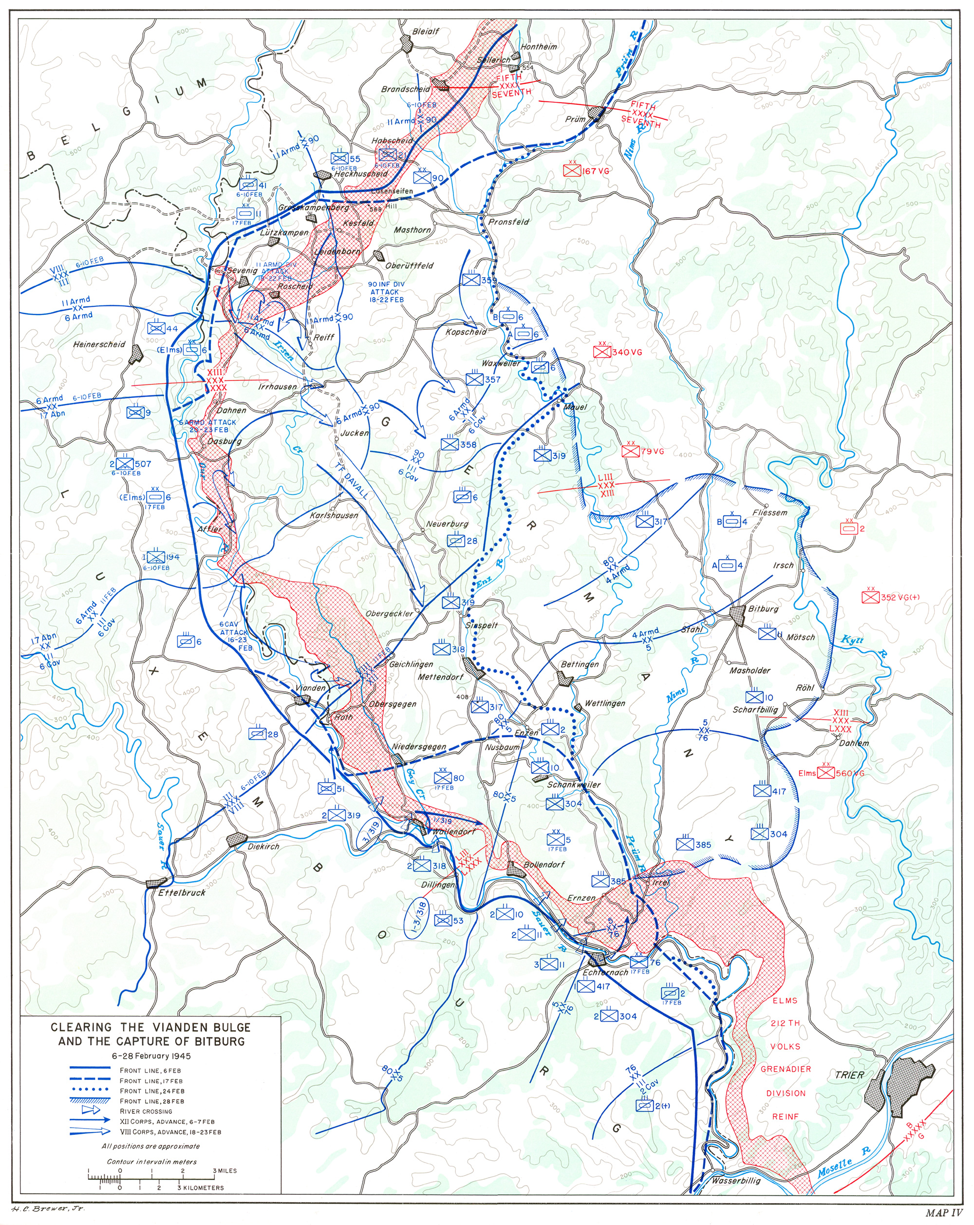 hyperwar the last offensive chapter 6 1955 Jeep Models for the february attack general patton approved a strike along a front of some seven and a half miles from wallendorf southeast to echternach