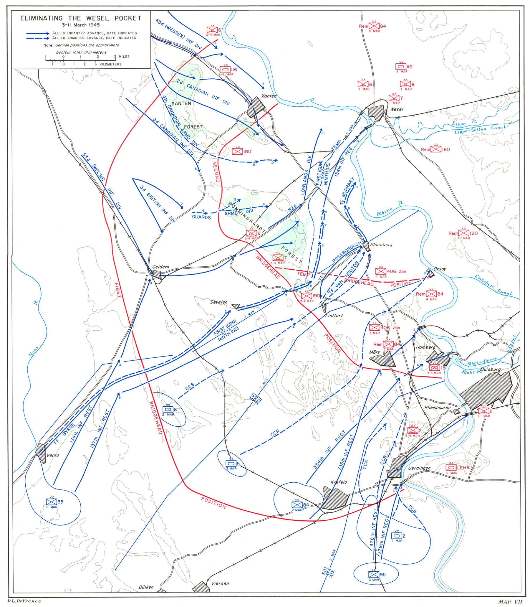 hyperwar the last offensive chapter 9 13th Infantry Division the 134th infantry made contact with the 1st british corps at geldern but resistance there too was determined although the 8th armored division still