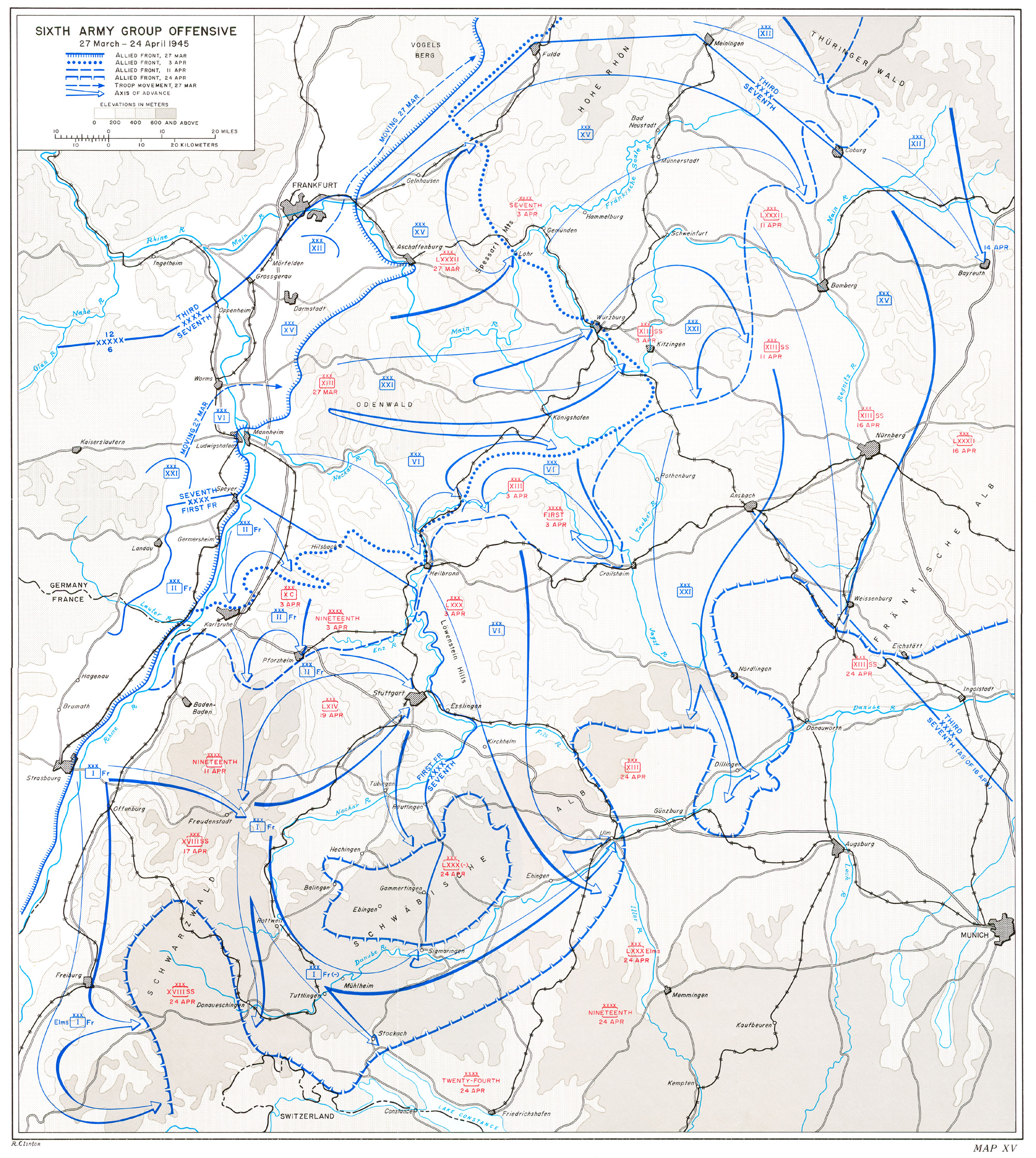 HyperWar The Last Offensive Chapter - Germany map grafenwoehr