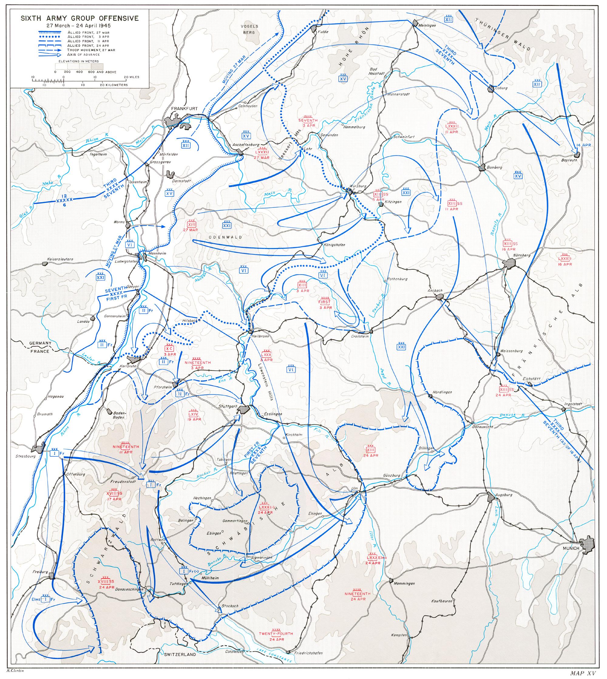 HyperWar The Last Offensive Chapter - Germany map grafenwoehr