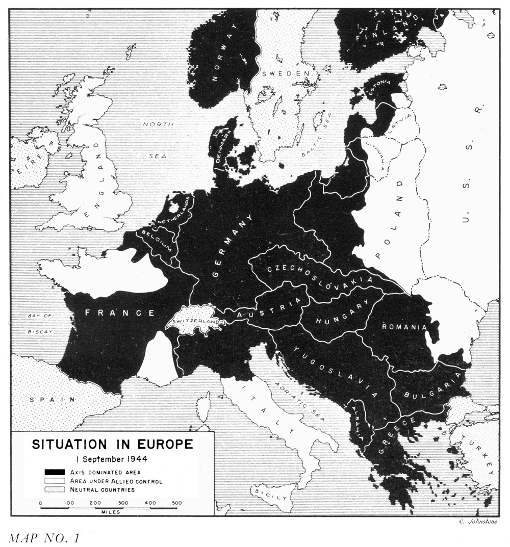 HyperWar US Army In WWII The Lorraine Campaign - Europe map 1944