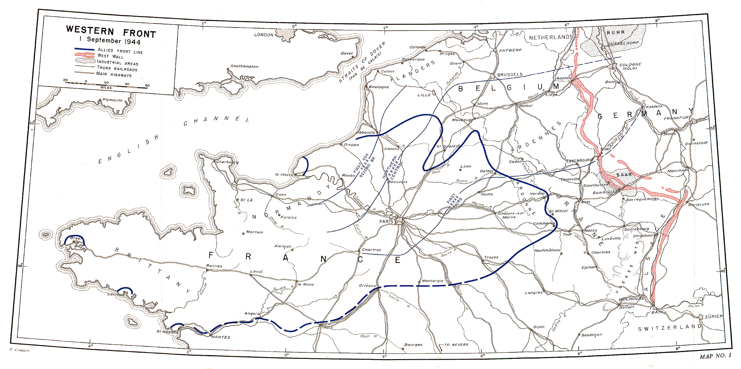map i thus far the allied losses had been moderate when viewed in relation to the territory won and the casualties inflicted on the enemy since 6 june