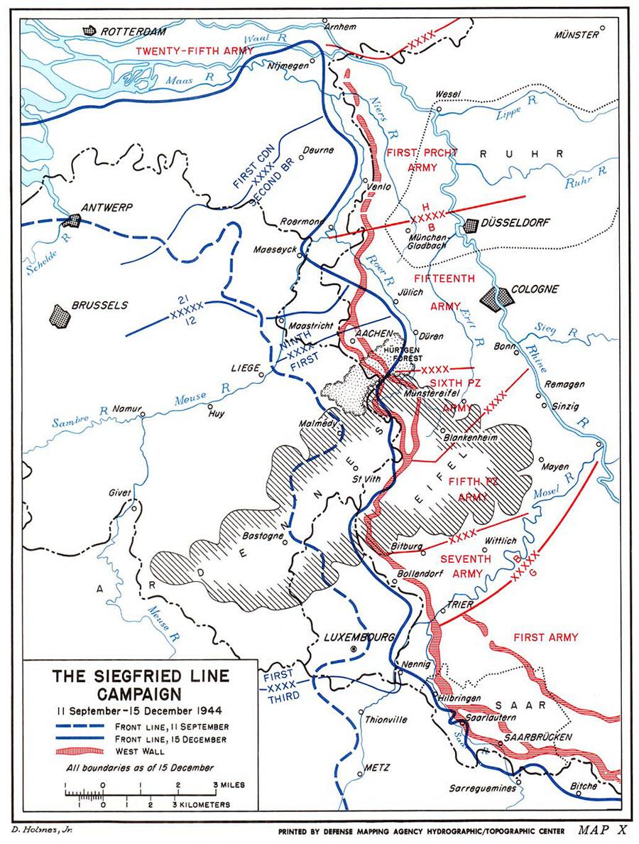 six days war map