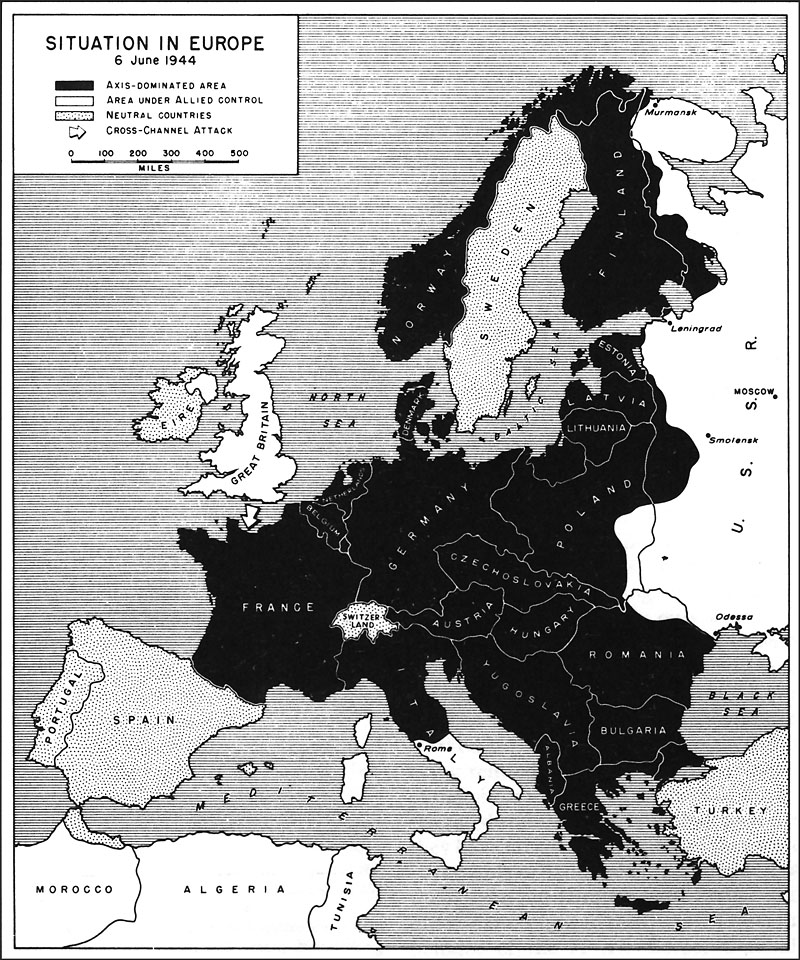 situation in eu 6 june 1944