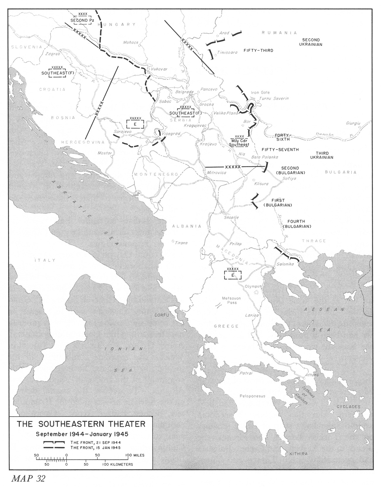 hyperwar stalingrad to berlin the german defeat in the east Asia Minor Map map 32 the southeastern theater september 1944 january 1945