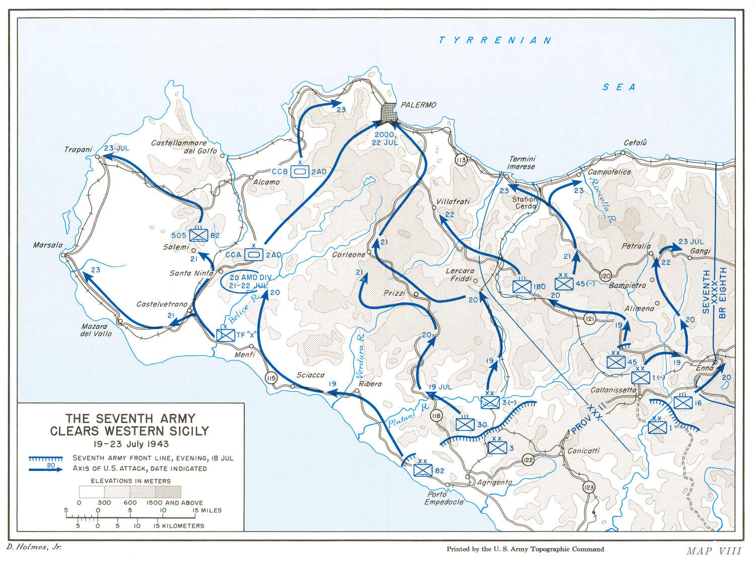 HyperWar: US Army in WWII: Sicily and the Surrender of Italy ...