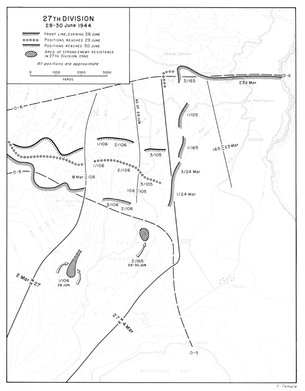 hyperwar us army in wwii c aign in the marianas 104th Division Army Reserve 27th division 28 30 june 1944