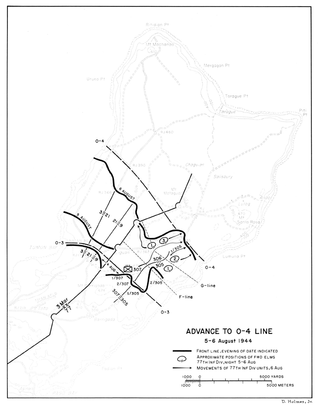 Hyperwar Us Army In Wwii Campaign The Marianas 69 Camaro Fuel Gauge Wiring Diagram Advance To O 4 Line 5 6 August 1944