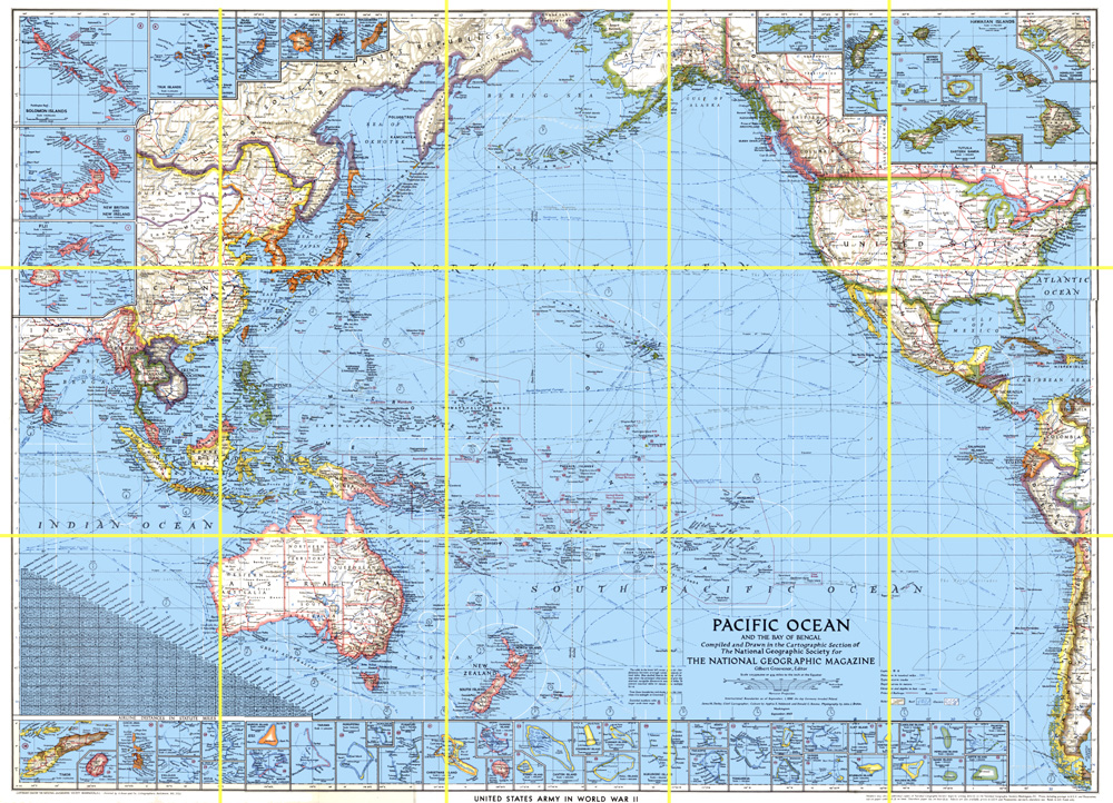 HyperWar Pacific Ocean - Us ocean map