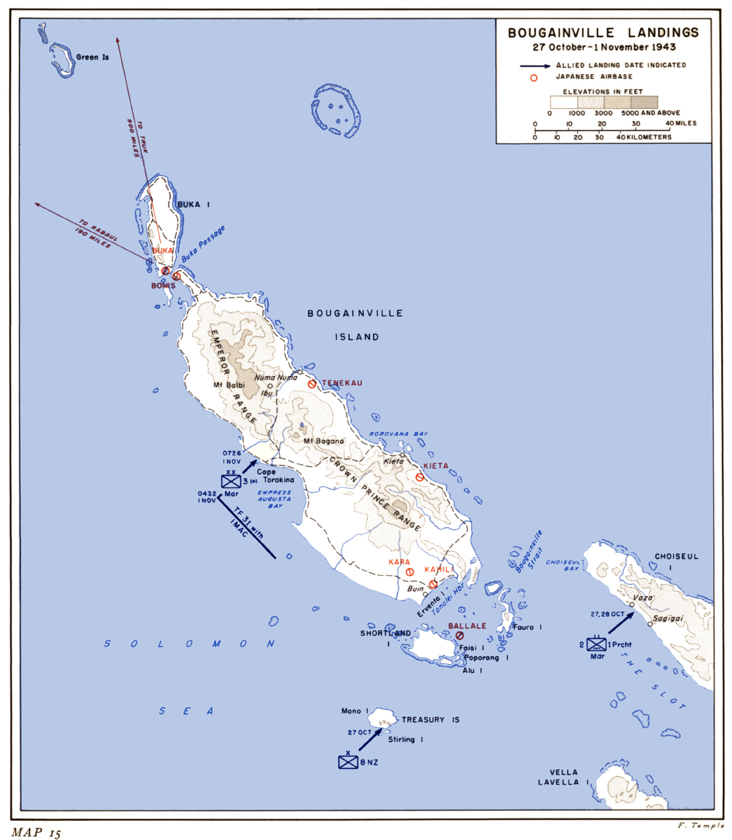 HyperWar US Army In WWII CARTWHEELThe Reduction Of Rabaul - Us map ww2