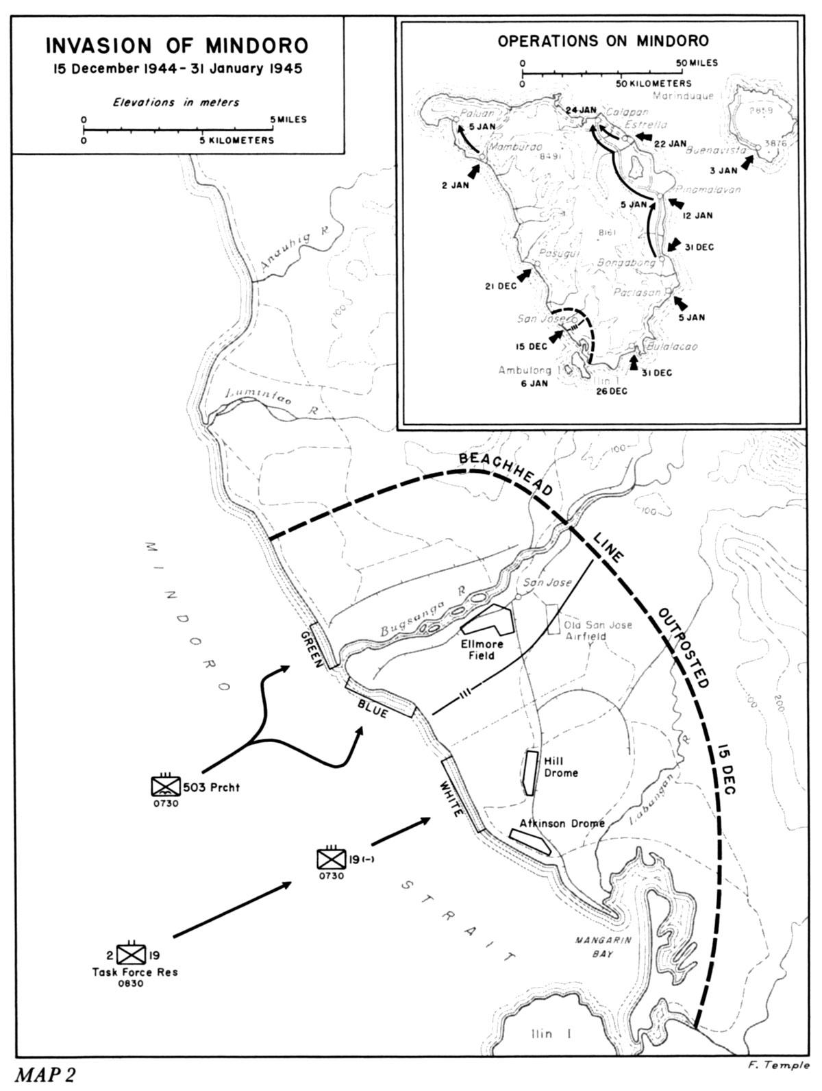 Invasion Of Mindoro 15 December 1944 31 January 1945