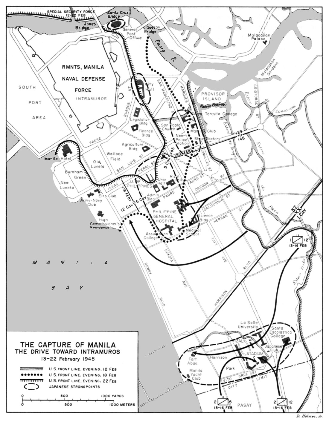 hyperwar us army in wwii triumph in the philippines chapter 15 Armor Regiment map 6
