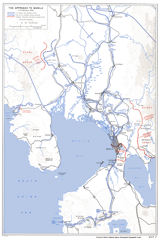 V The Approach To Manila 1 4 February 1945
