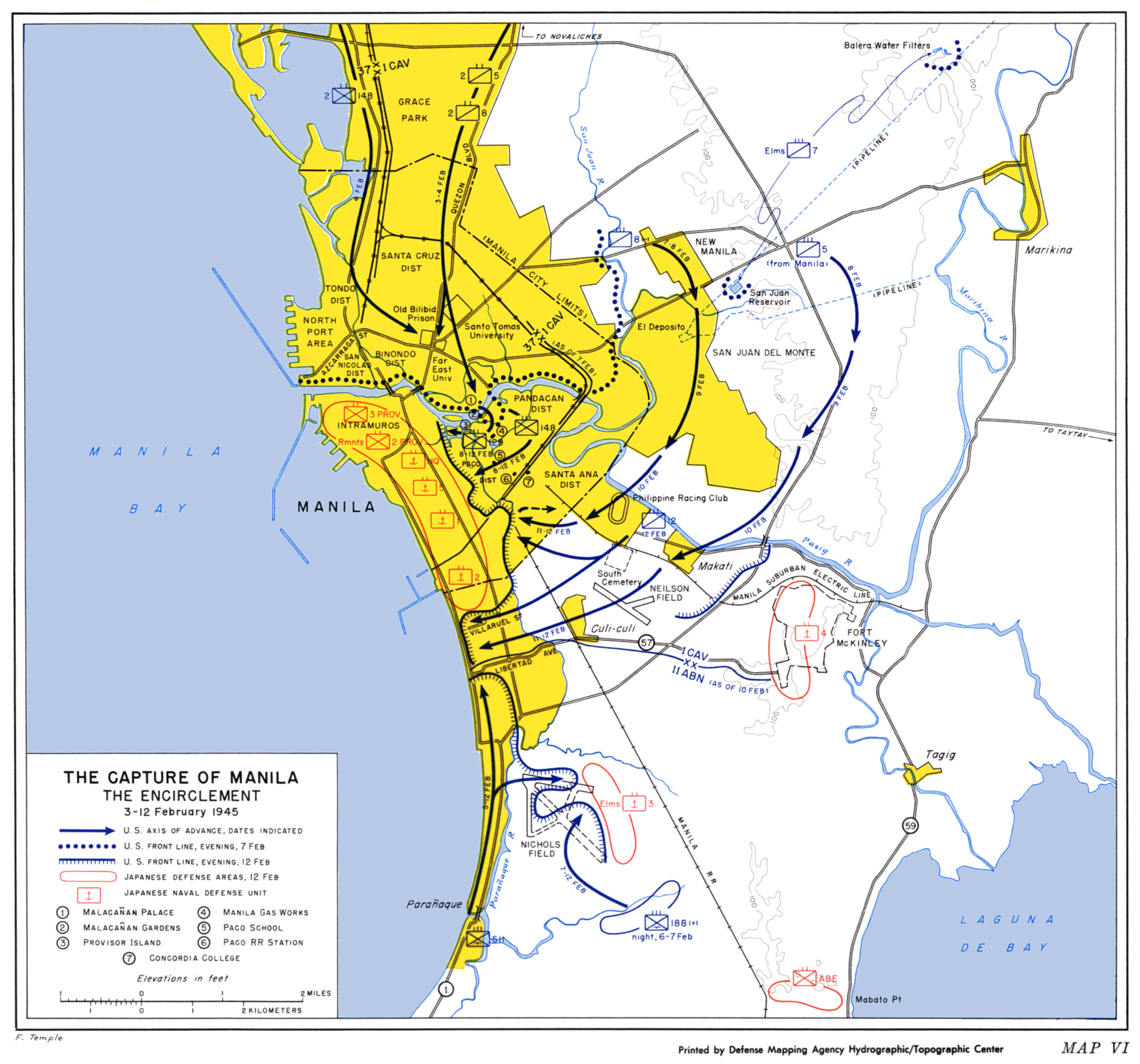 HyperWar US Army In WWII Triumph In The Philippines Chapter 13 - Us Millitary Instilation Maps