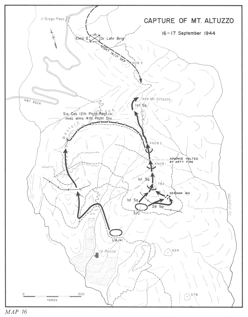 hyperwar three battles arnaville altuzzo and schmidt 65th Infantry Regiment capture of mt altuzzo 16 17 september 1944