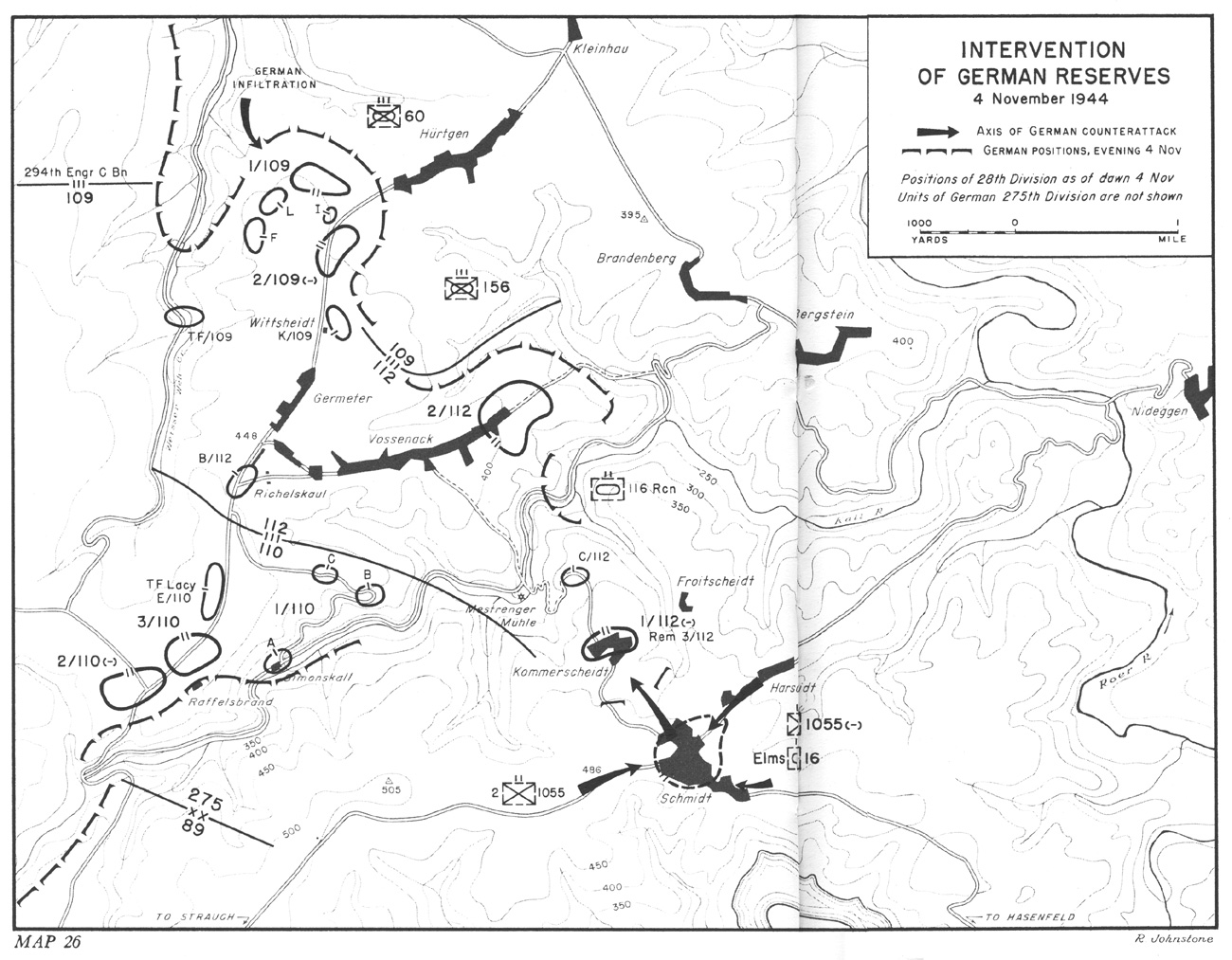 hyperwar three battles arnaville altuzzo and schmidt 350th Infantry Regiment intervention of german reserves 4 november 1944