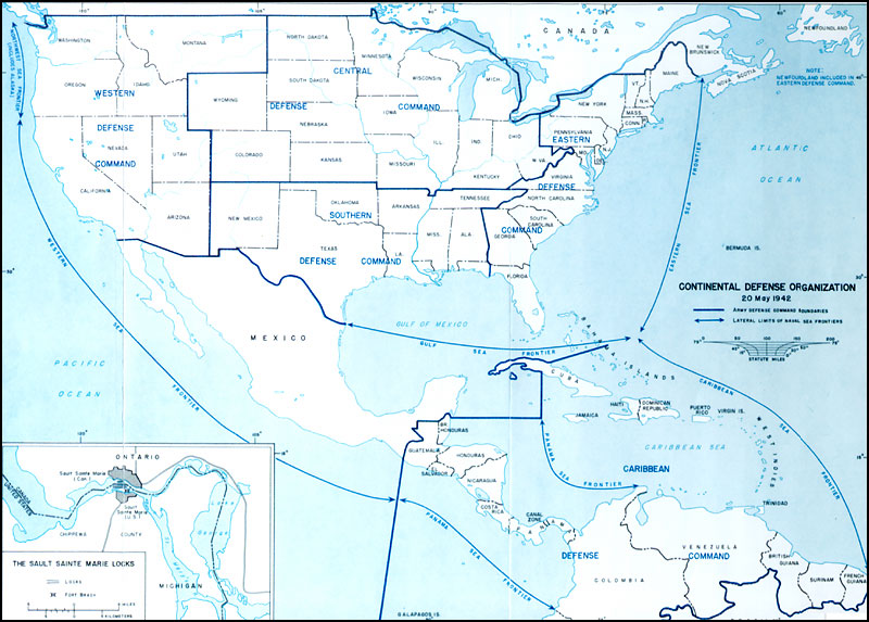HyperWar US Army In WWII Guarding The United States And Its Outposts - Usa hemisphere