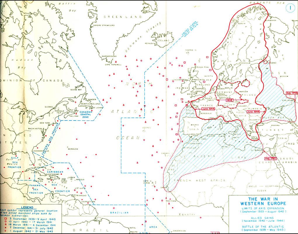 HyperWar The War In Western Europe Part June To December - Europe map 1944