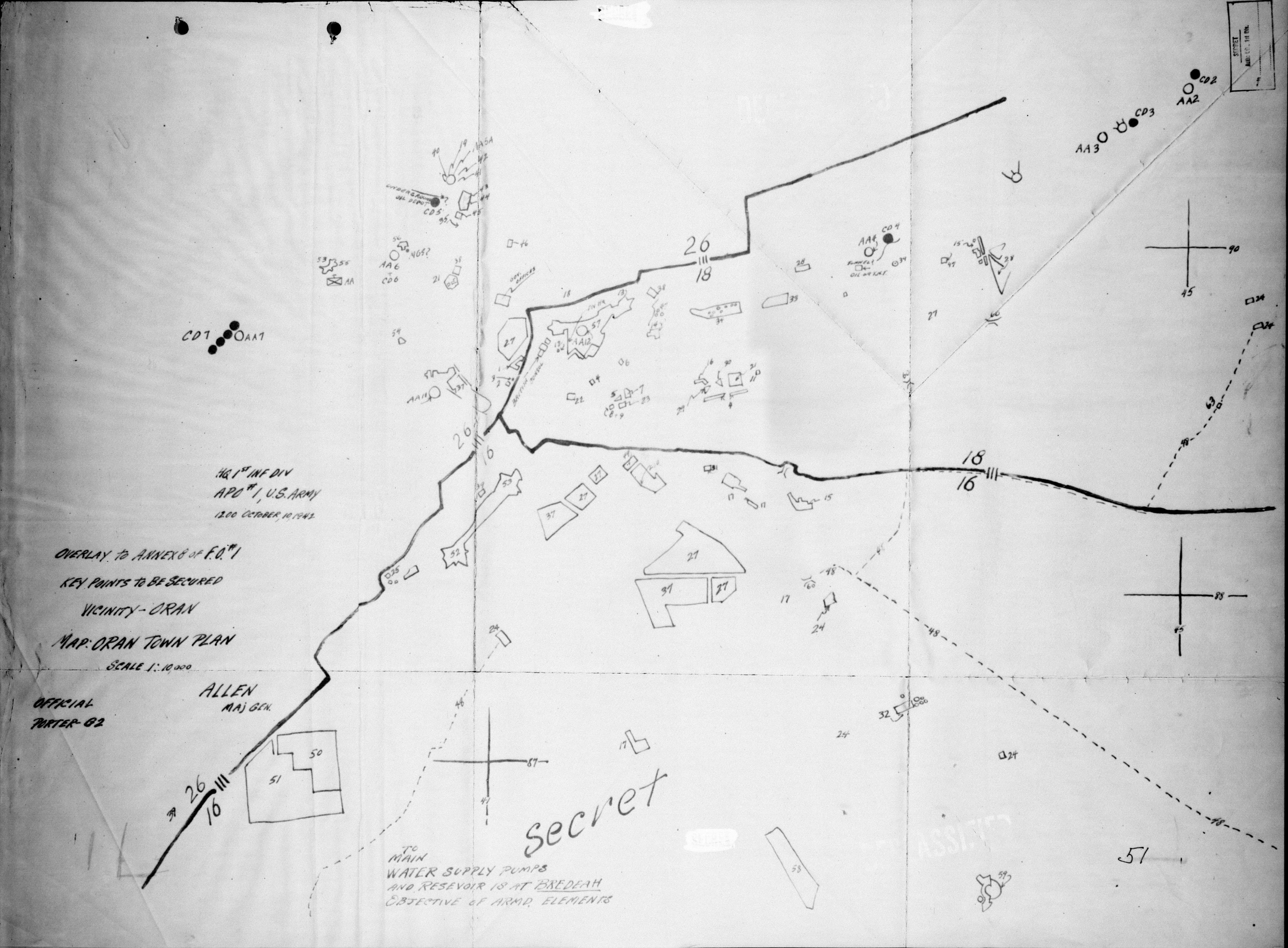 Hyperwar Torch 1st Infantry Division Field Orders A Circuit Diagram Of October 10 1942