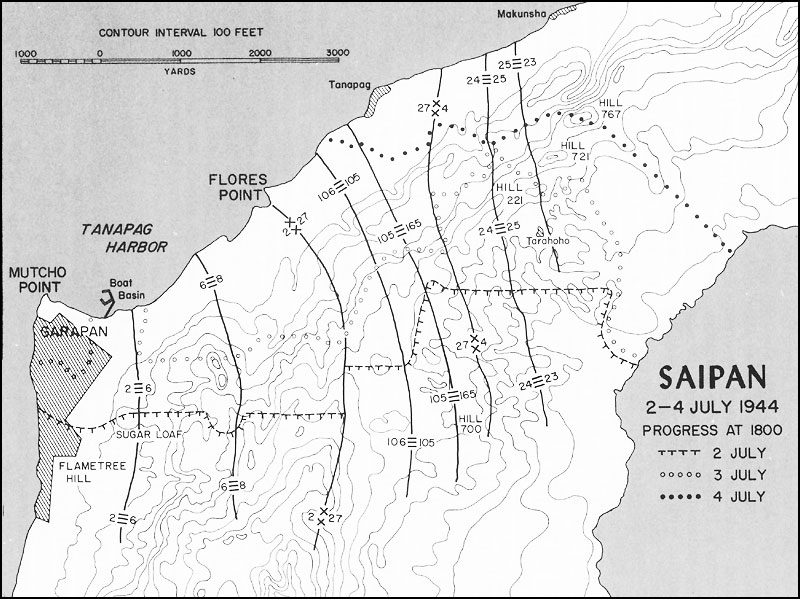 hyperwar usmc operations in wwii vol iii central pacific drive M119A2 105Mm Howitzer see map 19