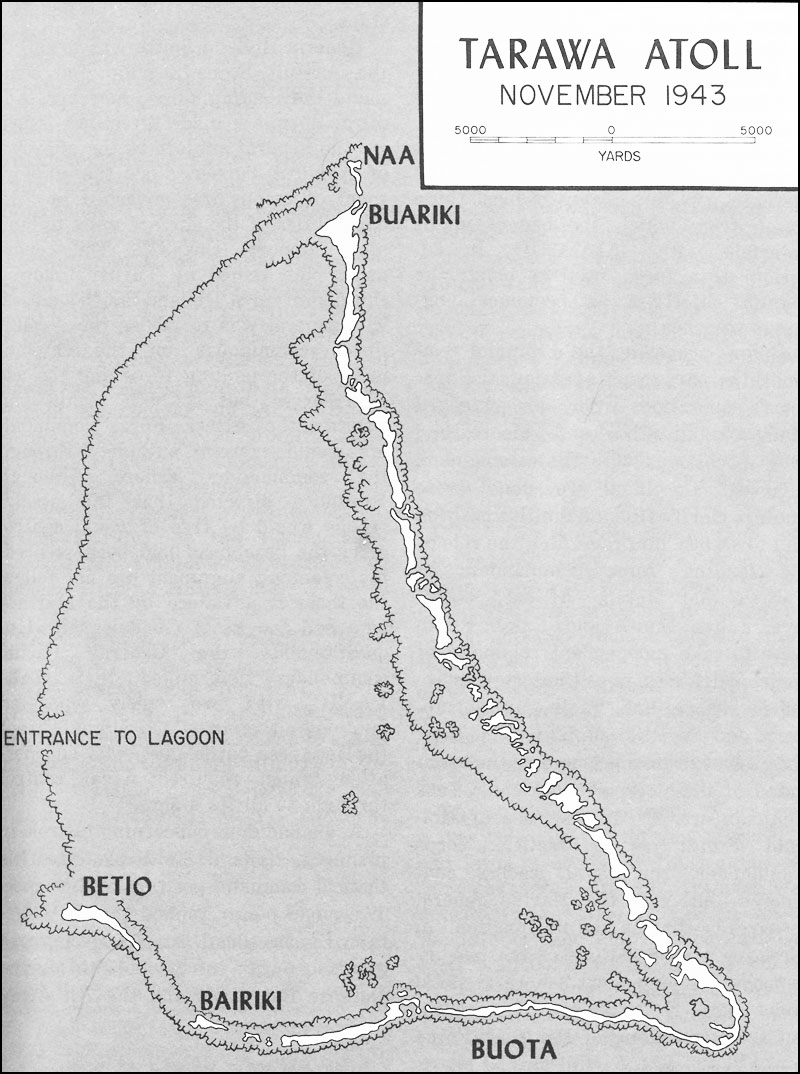 HyperWar USMC Operations In WWII Vol IIICentral Pacific Drive - tarawa atoll map