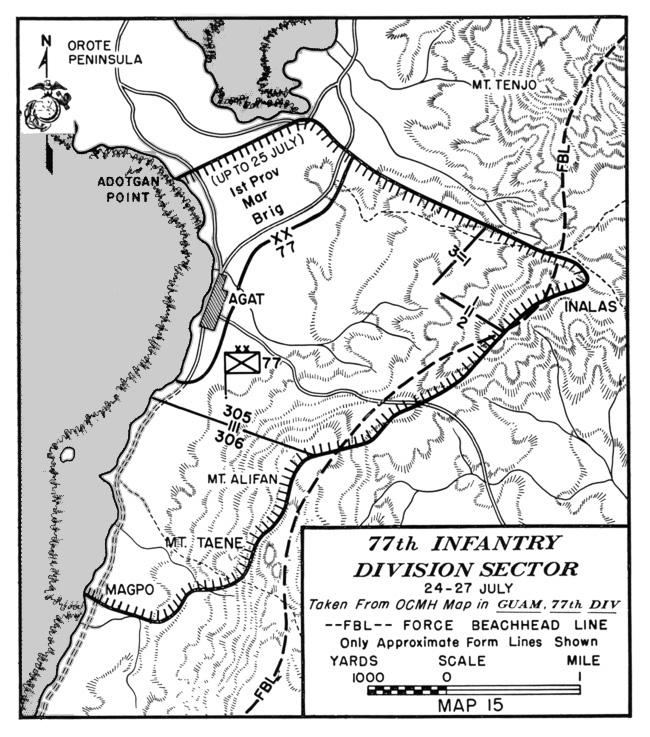 hyperwar usmc monograph the recapture of guam Guam Military Installations see map 15