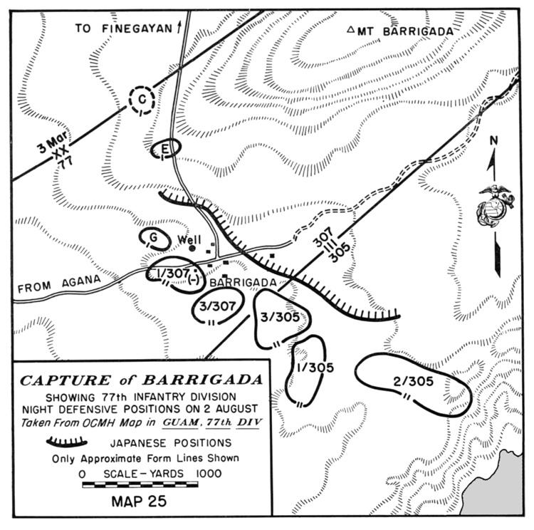 hyperwar usmc monograph the recapture of guam Guam Military Base map 25 capture of barrigada