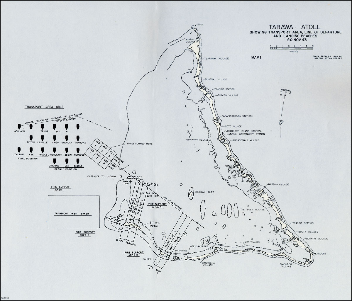 HyperWar The Battle For Tarawa Chapter - tarawa atoll map