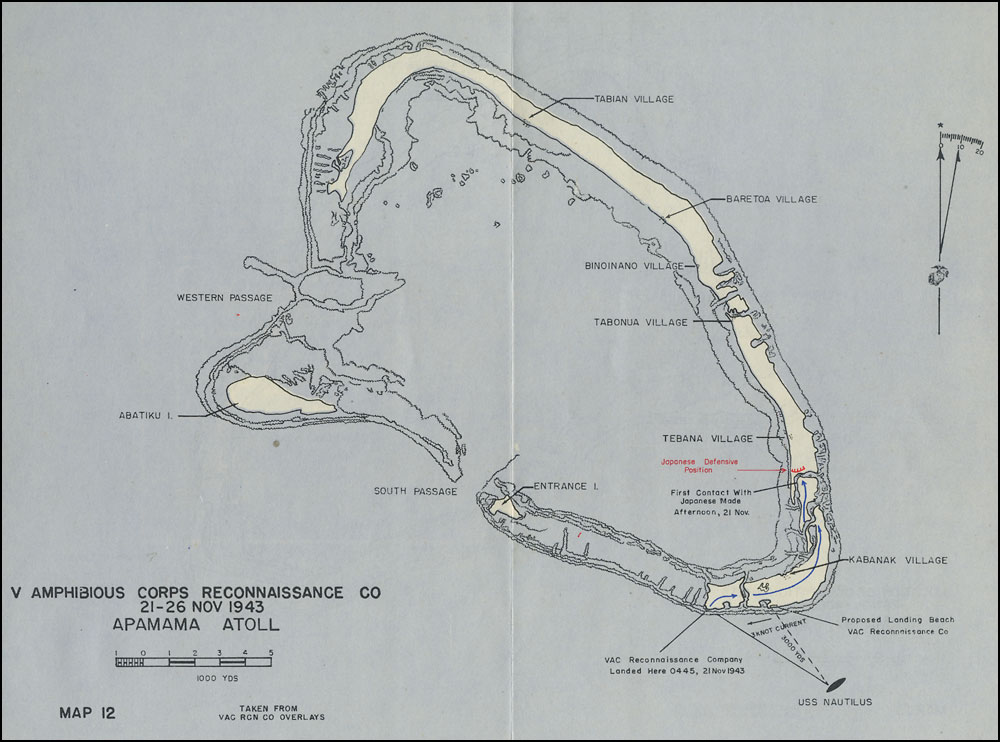 HyperWar The Battle For Tarawa Chapter Mission Completed - tarawa atoll map