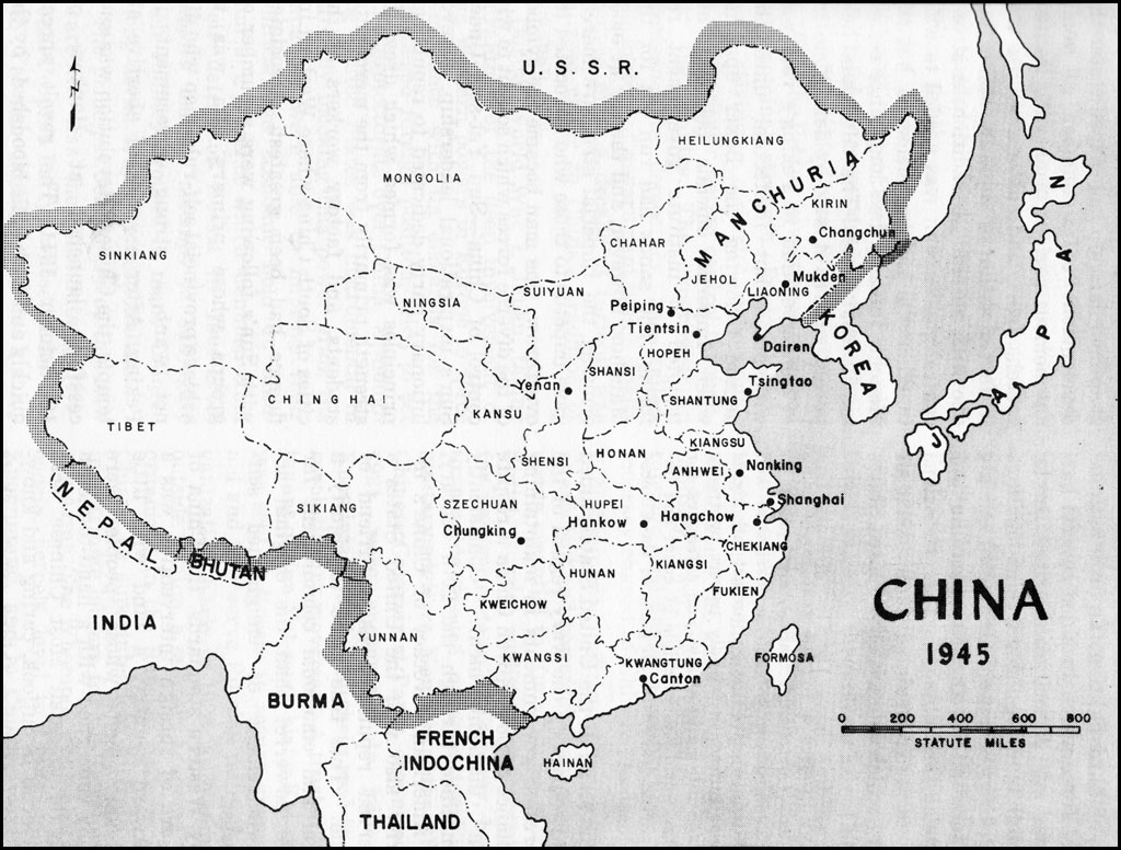 Hyperwar usmc operations in wwii vol v victory and occupation map 32 china 1945 gumiabroncs Gallery