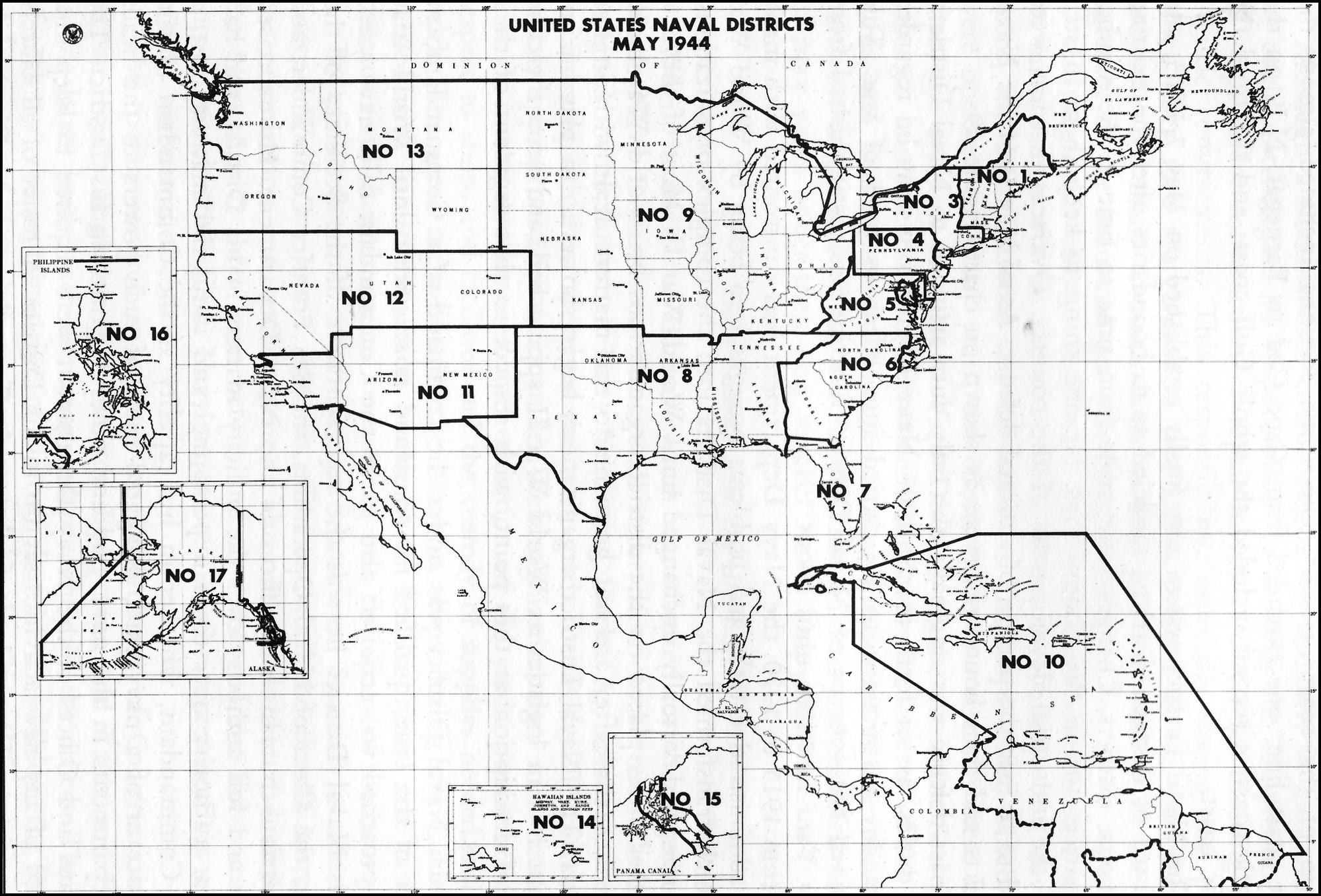 HyperWar Administration Of The Navy Department In World War II - Us navy reserve component command map