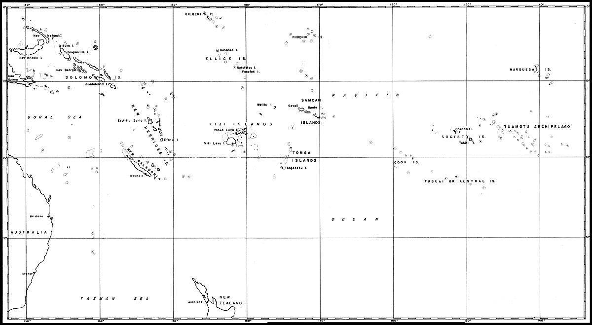 Map: South Pacific Islands