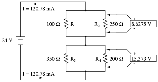 lessons in electric circuits volume i (dc) chapter 7applying ohm\u0027s law to the remaining vertical columns (i\u003de r), we can determine